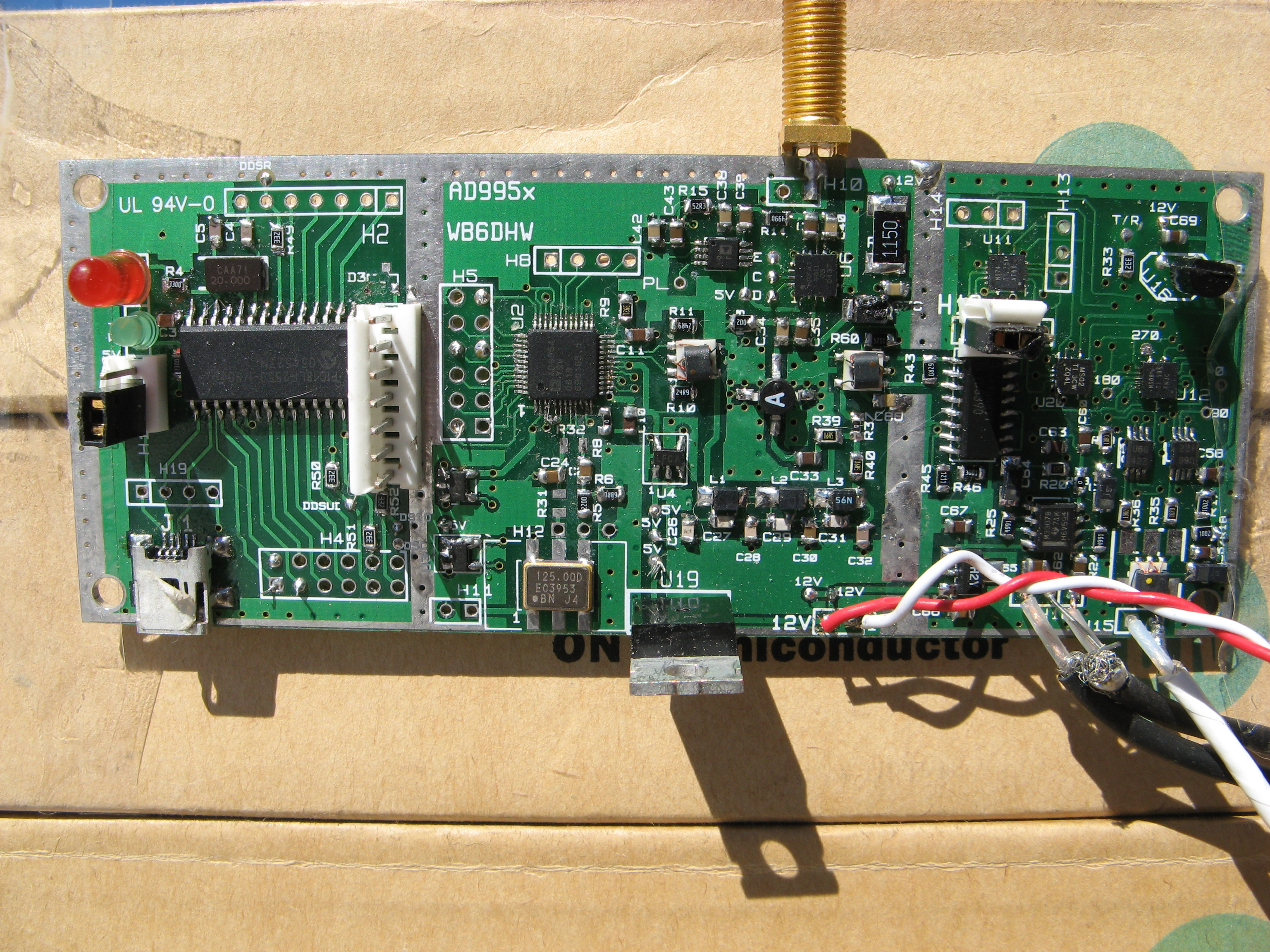 Building And Using The Wb6dhw Ad995x Dds Qsd Board Companion 80 To 135 Mhz Am Fm Vhf Receiver Circuit Design Http 995x Front